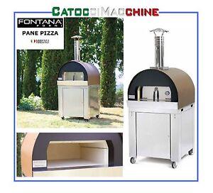 FORNO A LEGNA FONTANA FORNI A COTTURA DIRETTA 57 X 53 cm PANE PIZZA ...