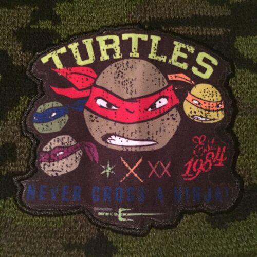 TMNT Teenage MUTANT Ninja TURTLES movie Boys NEW Beanie Camo HAT Cap GLOVES SET