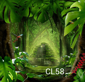 Vinyl photography Jungle background Studio photo props backdrop 10X10ft CL58