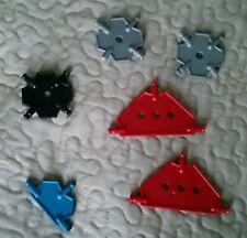 Lot 6 knex K'Nex squares triangles diamonds parts building toys pieces