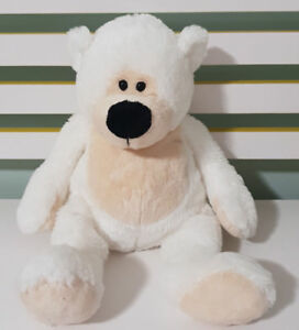 TEDDY-amp-FRIENDS-WHITE-AND-TAN-BEAR-SOFT-TOY-PLUSH-TOY-TEDDY-BEAR-WHITE-29CM