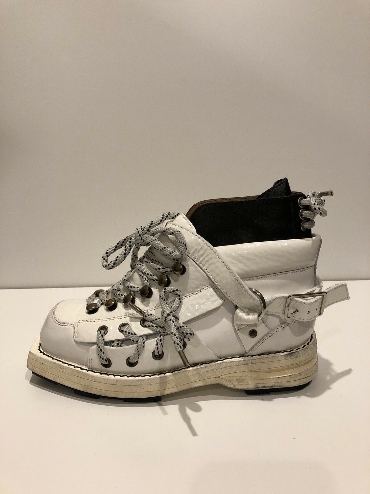 Acne Studios New  1,250 Heidi High Top White Leather Boots (Size  35EU 5US)