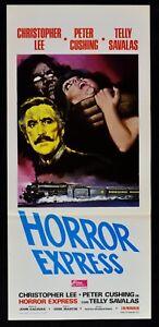Plakat Horror Express Christopher Lee Peter Cushing Savalas Train N67