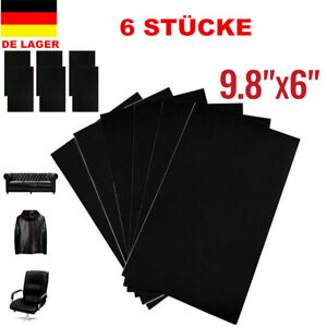 selbstklebend patch 15x25cm lederreparatur kunstleder flicken schwarz ebay. Black Bedroom Furniture Sets. Home Design Ideas