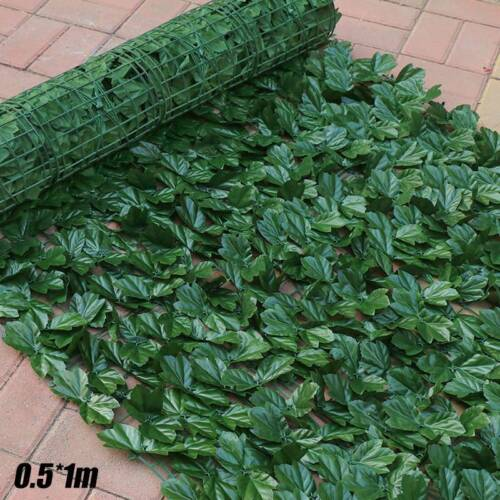 Artificial Faux Ivy Leaf Privacy Fence Screen Decorative Panels Outdoor Hedge