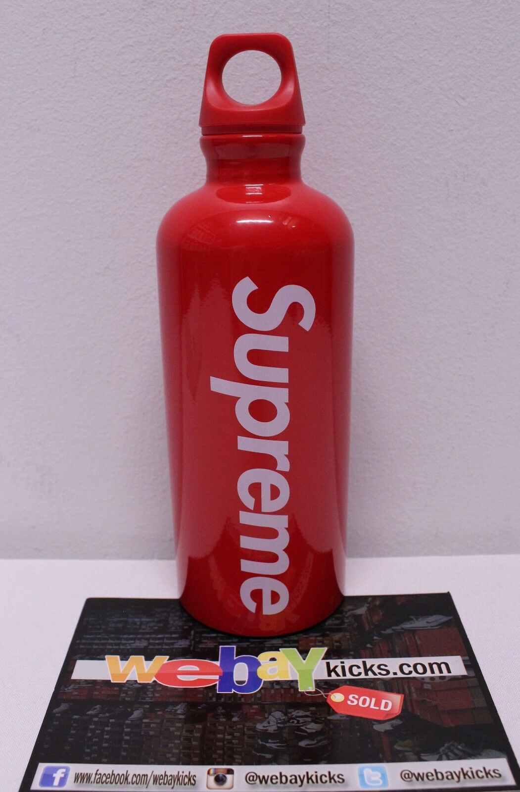 Supreme New York SIGG Traveller Water Bottle Box Logo Red White SS18 Week 3 New