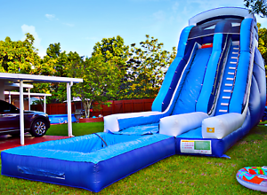 Details about 40x20x20 Commercial Inflatable Water Slide Obstacle Course  Bounce House Bouncer