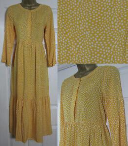 NEW-Next-Yellow-Spotty-Polka-Dot-Tea-Midi-Long-Dress-Tiered-Spring-Size-6-20