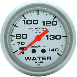 Autometer 4431M Gauge, Ultra-Lite, Water Temperature, 2 5/8 in., 60-140 Degrees