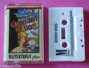 Commodore-64-C64-Mastertronic-GEMINI-WING-Tecmo-1990-NEW