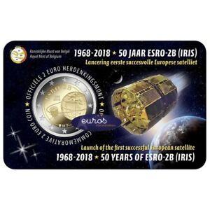 Coincard-2-euros-BELGIQUE-2018-FLAMAND-ESRO-2B-Premier-Satellite-Europeen