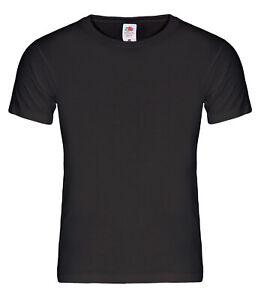 5-Stk-American-T-Shirt-schwarz-Fruit-of-the-Loom-Heavy