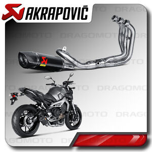 complete exhaust akrapovic yamaha mt 09 2014 2015 2016. Black Bedroom Furniture Sets. Home Design Ideas