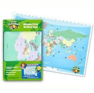 New world explorers interactive world map 90 x 60cm woolworths image is loading new world explorers interactive world map 90 x gumiabroncs Image collections