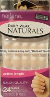 Nailene Daily Wear Naturals 24 Glue-on Nails White Tips Active Length 22117