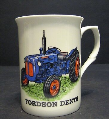FORDSON DEXTA TRACTOR Fine Bone China Mug Cup Beaker