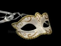 Girls Masquerade Mask Gold Turquoise Black School Prom Costume Dress Up Party