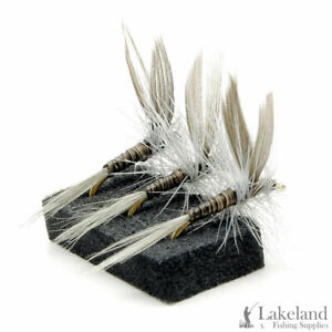 3 6 or 12x Elk Wing Caddis Dry Trout Flies for Fly Fishing