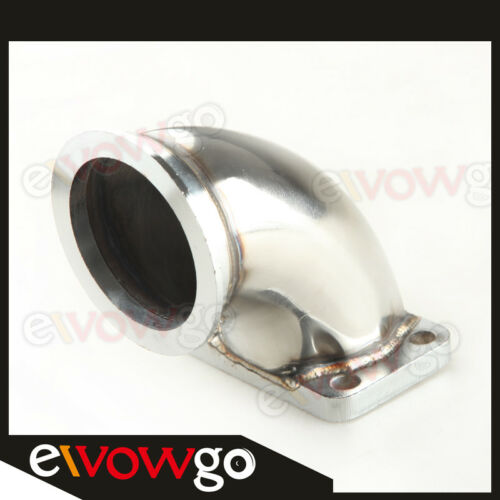 """STAINLESS STEEL 3.0/"""" V-BAND T3 TURBO EXHAUST 90 DEGREE ELBOW ADAPTER FLANGE"""