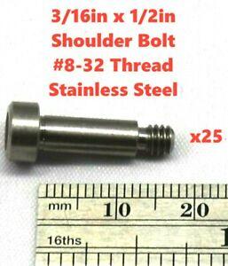 25pcs 3//4X3 Shoulder Screws Steel