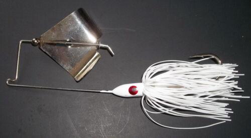 """White /""""NEW/"""" -Bass Fishing 3//8 Oz Bass Custom Topwater Buzzbait Lure - 1"""