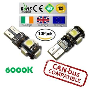 10x-CanBus-LED-No-Error-6000k-HID-White-T10-w5w-501-194-Parking-Bulbs-Side-Light