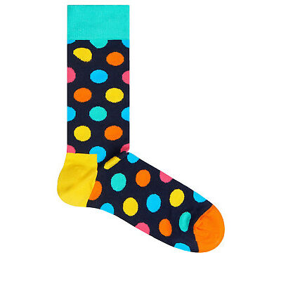 NEW Happy Socks Big Dot Sock Aqua/ Multi Assorted