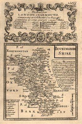 'buckingham-shire'. County Map By J. Owen & E. Bowen. Buckinghamshire 1753