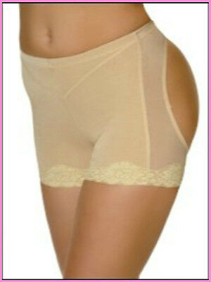 BRAZILIAN BUTT BRA LIFT Lace Trim Panty Shaper Lifter Booty Enhancer Booster