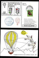 62028) Ballonpost FDA Dolder Schlieren - Hagenbuch 3.6.56, Karte > BRD