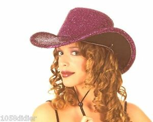 CHAPEAU-Rose-DISCO-Deguisement-Adulte-Homme-Femme-Costume-Cowboy-Country-NEUF
