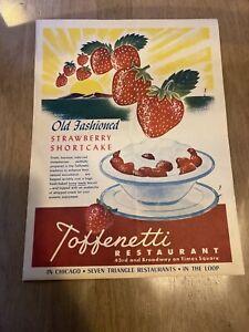 Vintage Menu Toffenetti Restaurant Times Square NY 1948