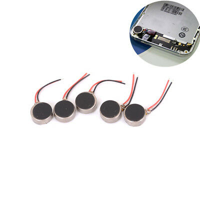 5X Mini DC3V Pager Cell Phone Mobile Coin Flat Vibrating Vibration Micro Motor #