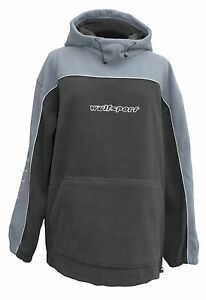 Wulfsport Adult Fleece Silver Grey Hooded Motocross Leisure MX Large