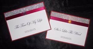 Christmas Table Name Cards Glitter Snowflake Winter Wedding