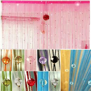 Drop-Beaded-String-Window-Door-Curtain-Divider-Room-Blind-Tassel-Screen-Fly-IE