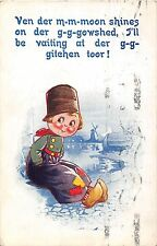 POSTCARD  COMIC   BAMFORTH  DUTCH  KIDS  Series  No  7