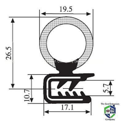 Universal Guarnizione in Gomma per Porte Stivale Taglio DS201