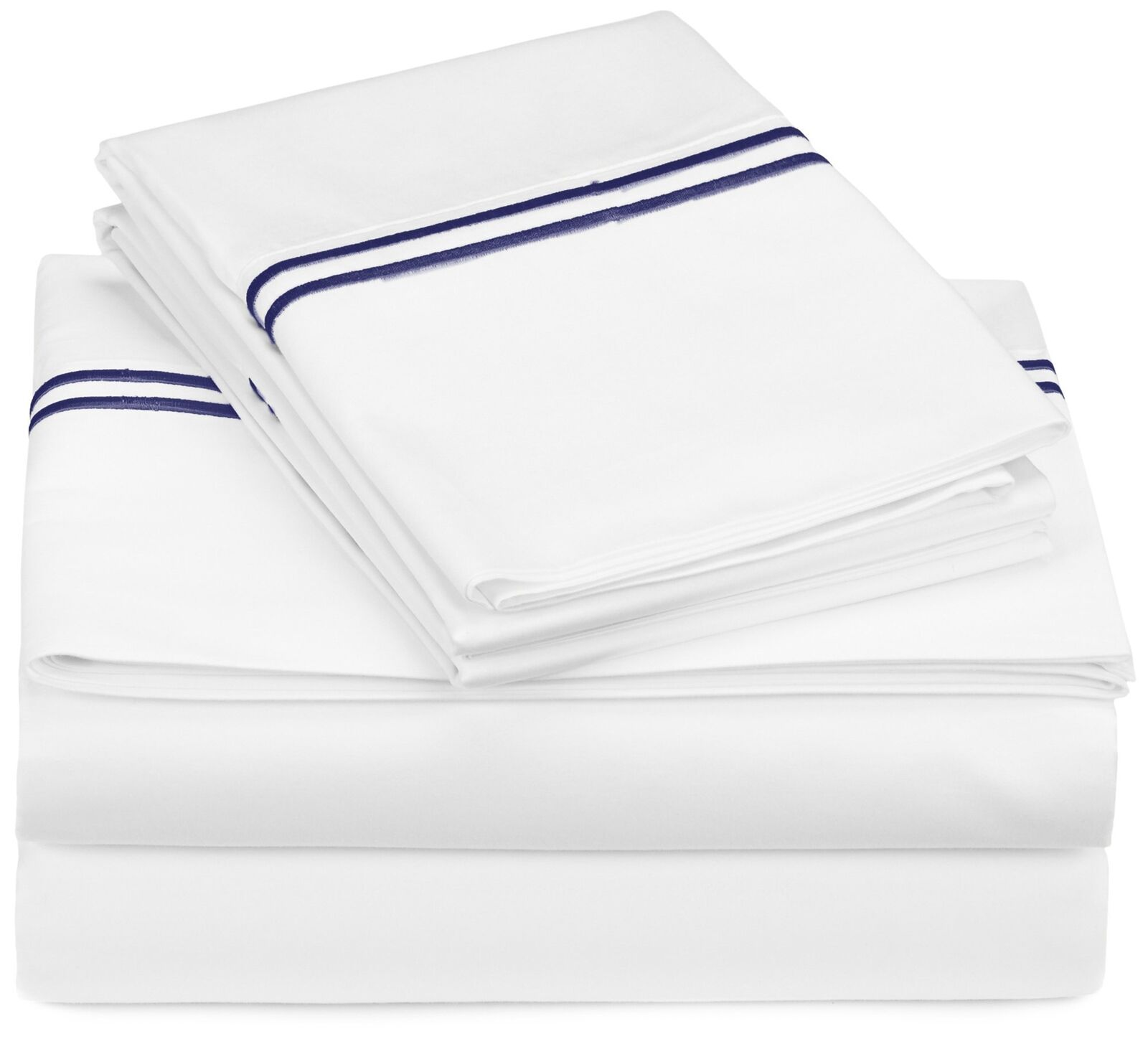 Pinzon 400-Thread-Count Egyptian Cotton Sateen Hotel Stitch Sheet Set - Full,