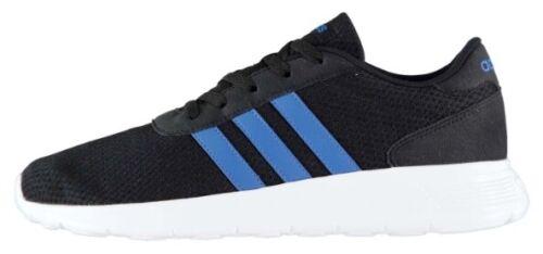 Adidas Lite Racer Herren Sport Fitness Schuh Schwarz Blau Größe 42 oder 44 2/3