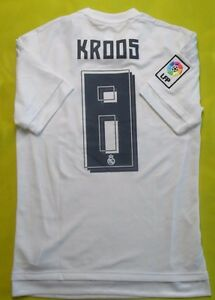 wholesale dealer 670db d6c76 Details about 5+/5 REAL MADRID 2015~2016 #8 TONI KROOS CAMISETA JERSEY  SHIRT SOCCER ADIDAS