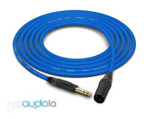 Canare Quad Cable L-4E6S   Neutrik Gold TRS XLR-M   Blue 8 Feet   8 Ft.   8'
