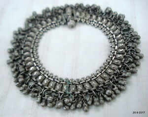 Anklets Vintage Antique Ethnic Tribal Old Silver Anklet Feet Bracelet Ankle Chain Fashion Jewelry