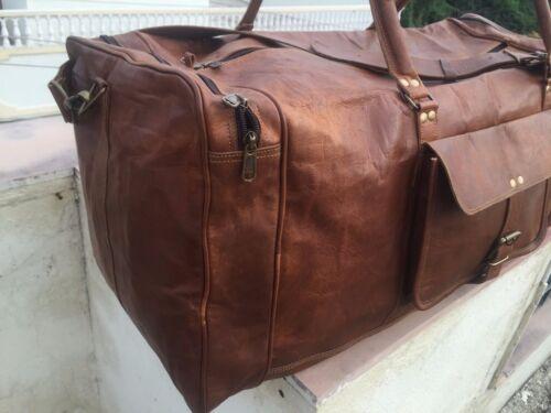 25 S Weekend Real Duffle Bagasje Menn Leather Lette Bag Gym Retro Vintage qPxfwqzg