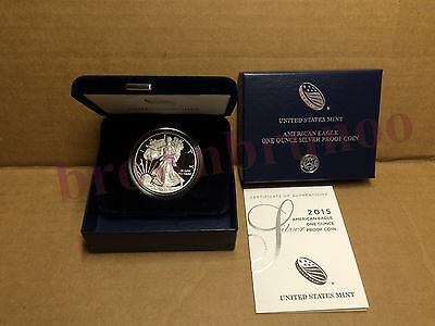 2015 W American Eagle One Ounce SILVER PROOF West Point Coin 1 Oz Box /& COA ES6