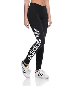 ADIDAS ORIGINALS WOMENS LINEAR LEGGINGS LADIES FITNESS GYM BOTTOMS ... fcd61b1dfbd