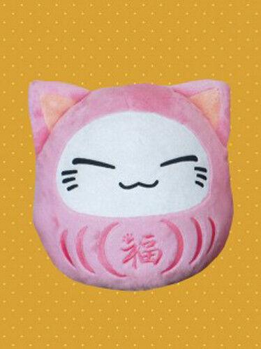 Nemuneko 12/'/' Pink Daruma Sleeping Cat Plush Anime Manga NEW
