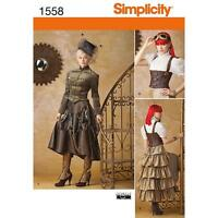 SIMPLICITY SEWING PATTERN Misses' Steampunk Costume SIZE 6 - 22 1558 *