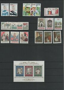 Liechtenstein-Vintage-Yearset-1988-Neuf-MNH-Complet-Plus-Sh-Boutique