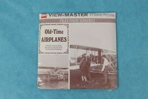 VINTAGE VIEW-MASTER 3D REEL PACKET B797 OLD TIME PLANES IN B&W SEALED
